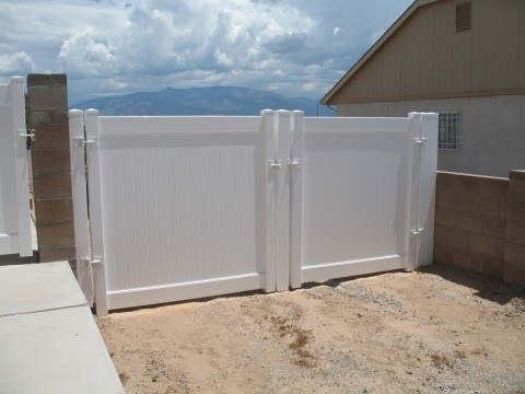 White Double Gates