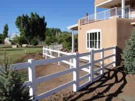 Ranch Rail with attached horse fence