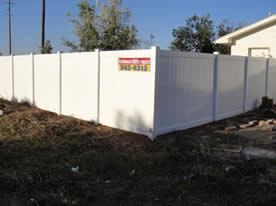 6 foot white privacy fence